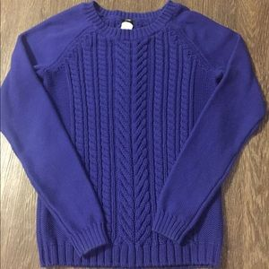 J Crew Royal Blue Cable Knit Sweater